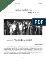 5 Iulia Stoicanea – Dacă omul nu vine la teatru, mergi tu la el! – Interviu cu Părintele Liviu Mihăilă