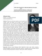 7 Mihaela Beţiu   Principii-sursă pentru învăţământul preuniversitar teatral