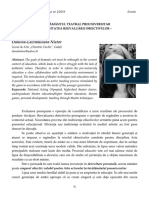 11 Daniela-Lăcrămioara Nistor   Învăţământul teatral preuniversitar – necesitatea reevaluării obiectivelor –
