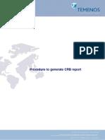 Procedure to Generate CRB Report