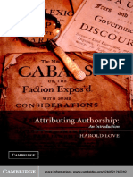 Attirbuting Authorship - An Introduction