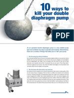 10 Ways to kill your diaphragm pump