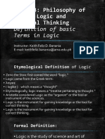 PPT Definition of Basic Terms in Logic