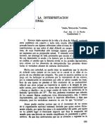 Alberdi y La Interpretacion Constitucional