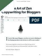 The Art of Zen Copywriting for Bloggers - Copyblogger