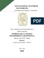 Teorema de maxima transferencia de potencia