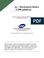 Interlingua - Diccionario Basico de 2.500 Palabras