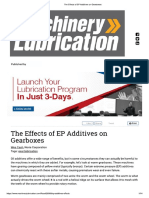 The Effects of EP Additives on Gearboxes