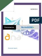 NutriGENE Nutri SAMPLE Report