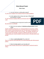 policy manual project