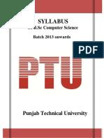 BSC CS Syllabus 25-07-2014