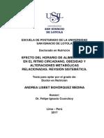 2017 Bohorquez Efecto Del Horario de Alimentacion en El Ritmo Circadiano