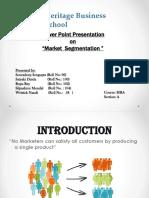 Ppt on Market Segmentation