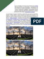 La Energía Sostenible