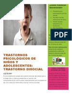 Trastornos Psicológicos de Niños y Adolescentes