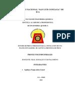 Estudio de Prefactibilidad Para La Instalacion de Una Planta Envasadora de Glp en La Provincia de Pisco
