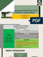 Kebijakan Akreditasi Fktp