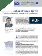 Nouvelle géopolitique du vin - Note d'analyse géopolitique n°4 octobre 2010