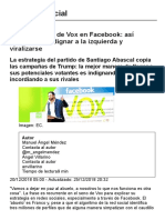 La Maquinaria de Vox en Facebook - El confidencial
