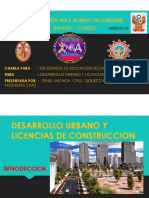 Desarrollo Urbano y Licencias de Construccion