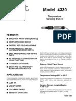 Amot. 4330. Switch Temperatura. 3 Amot 4330 Product Document