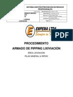Pte-emp 003 Armado de Pipping Lixiviación 2019