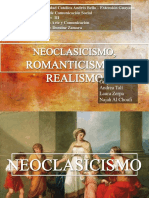 Neoclasicismo Romanticismo y Realismo.