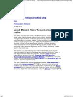 Jesuit Mission Press 'Feiqe Monogatari'