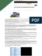 Peru Significado Del Departamento Donde Vives