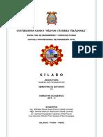 Sílabo 2017-II Diseño de Pavimentos Nuevo Formato (1)