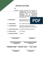 Anteproyecto de Tesis - Est. Ing. Agricola Wilder Elid Mora Rodríguez