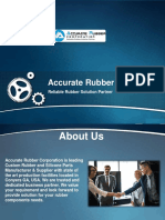 Silicone Rubber Gasket & Rubber Parts by Accurate Rubber Corporation