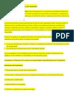 Funciones Del Área Financiera y de Contraloría