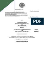 Ngole v Sheffield University Judgment
