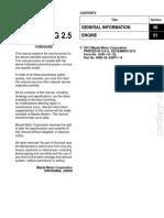 Mazda 6 2014 -Engine Workshop Manual SKYACTIV-G 2.5