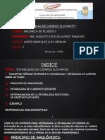 MECANICA DE FLUIDOS - ESTABILIDAD DE CUERPOS FLOTANTES.pptx