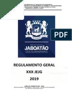 Regulamento Geral Dos Jejg 2019 Da Pmjg Em 27.02.2019