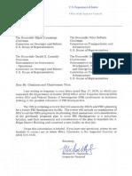 DOJ Inspector General Letter - 7.2.2019