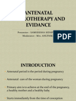 Antenatal Physiotherapy