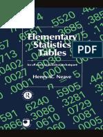 Elementary Statistics Tables Open University Text