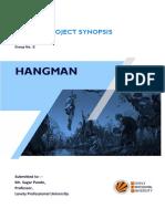 HANGMAN-Python Project Synopsis