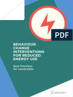 Behavior Change Interventions for Reduce Energy Use