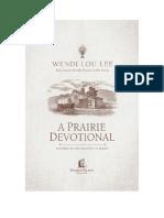 A Prairie Devotional Sampler
