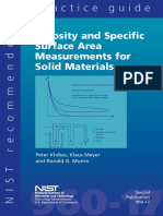 Porosity and Specific Surface Area Measurements for Solid Materials