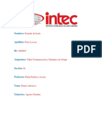 Diario Reflexivo-Taller Comunicación y Dinámica de Grupo