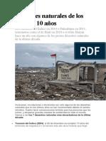 Desastres Naturales de Los Últimos 10 Años