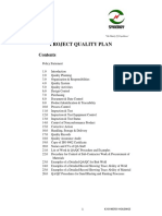k 3 Project Quality Plan