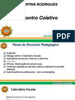 Encontro Pedagogico 01-08-18