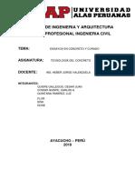 Informe de Concreto ENDURECIDO