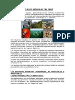 Recursos Naturales Del Perú Hecho